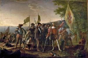 Landing of Columbus, pelukis John Vanderlyn